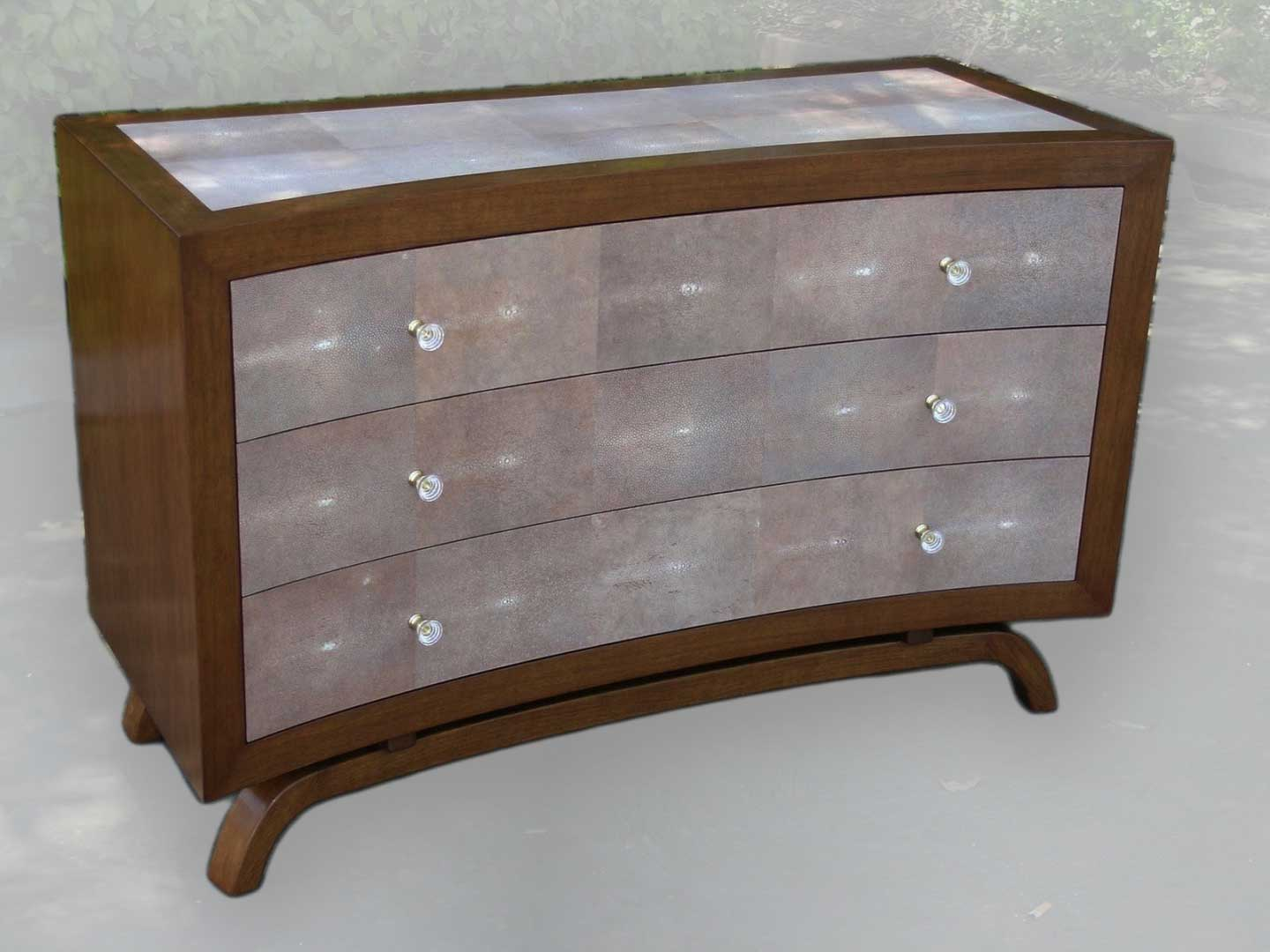Custom Chest of Drawers With Shagreen