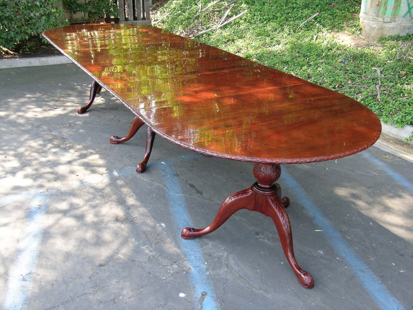 Refinished Racetrack Dining Table